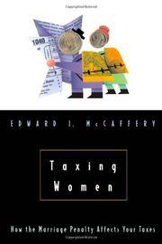 TAXING WOMEN by Edward J. McCaffery
