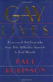 GAY LIVES by Paul Robinson