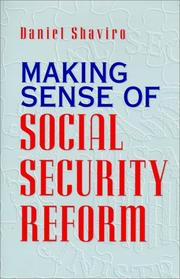 Cover art for MAKING SENSE OF SOCIAL SECURITY REFORM