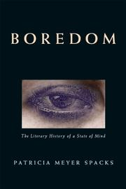 BOREDOM by Patricia Meyer Spacks