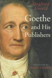 GOETHE AND HIS PUBLISHERS by Siegfried Unseld