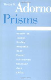 PRISMS by Theodor W. Adorno