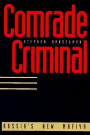 COMRADE CRIMINAL by Stephen  Handelman