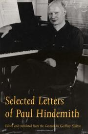 SELECTED LETTERS OF PAUL HINDEMITH by Paul Hindemith