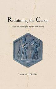 RECLAIMING THE CANON by Herman L. Sinaiko