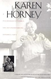 KAREN HORNEY: A Psychoanalyst's Search for Self-Understanding by Bernard J. Paris