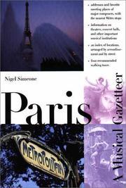 PARIS by Nigel Simeone