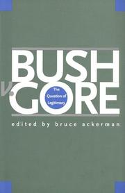 Cover art for BUSH V. GORE