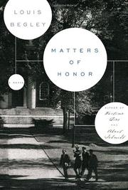 Cover art for MATTERS OF HONOR