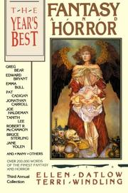 THE YEAR'S BEST FANTASY AND HORROR: Third Annual Collection by Ellen & Terri Windling--Eds. Datlow