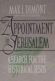 APPOINTMENT IN JERUSALEM by Max I. Dimont