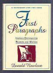 FIRST PARAGRAPHS by Donald Newlove