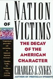 Cover art for A NATION OF VICTIMS