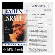 RABIN OF ISRAEL by Robert Slater