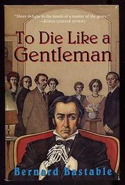 Cover art for TO DIE LIKE A GENTLEMAN