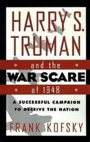 Cover art for HARRY S. TRUMAN AND THE WAR SCARE OF 1948