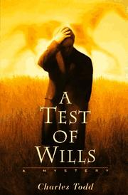 Cover art for A TEST OF WILLS