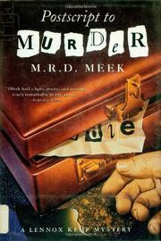 POSTSCRIPT TO MURDER by M.R.D. Meek