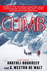 THE CLIMB by Anatoli Boukreev