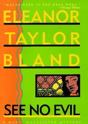 SEE NO EVIL by Eleanor Taylor Bland