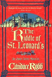 THE RIDDLE OF ST. LEONARD'S by Candace M. Robb