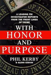 Book Cover for WITH HONOR AND PURPOSE