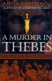 A MURDER IN THEBES by Anna Apostolou