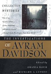 THE INVESTIGATIONS OF AVRAM DAVIDSON by Avram Davidson