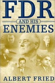 Cover art for FDR AND HIS ENEMIES