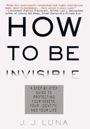 Book Cover for HOW TO BE INVISIBLE