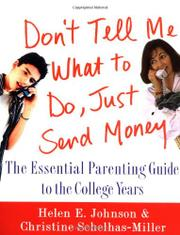 Book Cover for DON'T TELL ME WHAT TO DO, JUST SEND MONEY