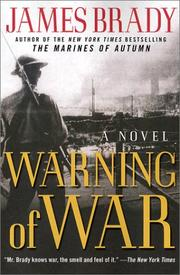 WARNING OF WAR by James Brady