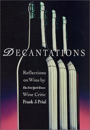 DECANTATIONS by Frank J. Prial