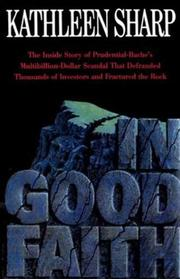 IN GOOD FAITH by Kathleen Sharp