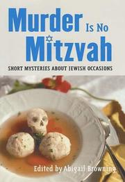 MURDER IS NO MITZVAH by Abigail Browning