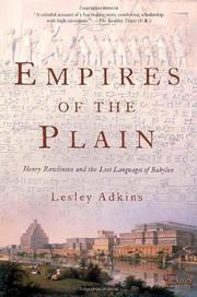 EMPIRES OF THE PLAIN by Lesley Adkins