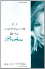 Cover art for THE IMPORTANCE OF BEING BARBRA
