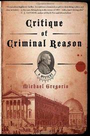 Cover art for CRITIQUE OF CRIMINAL REASON