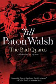 THE BAD QUARTO by Jill Paton Walsh
