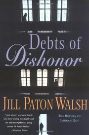 DEBTS OF DISHONOR by Jill Paton Walsh