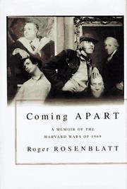 COMING APART by Roger Rosenblatt