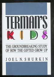 TERMAN'S KIDS by Joel N. Shurkin