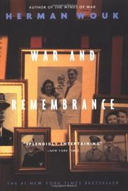 Cover art for WAR AND REMEMBRANCE