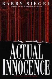 Book Cover for ACTUAL INNOCENCE