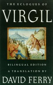 THE ECLOGUES OF VIRGIL by David Ferry