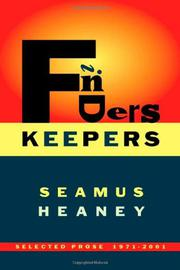 FINDERS KEEPERS by Seamus Heaney