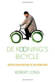 Book Cover for DE KOONING'S BICYCLE