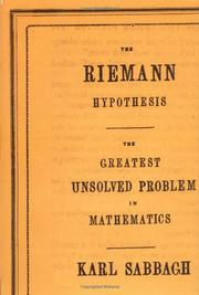 THE RIEMANN HYPOTHESIS by Karl Sabbagh
