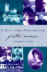 Book Cover for A GIFT FOR ADMIRATION