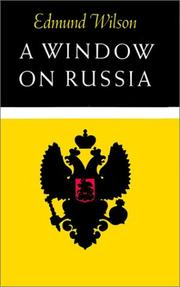 A WINDOW ON RUSSIA by Edmund Wilson